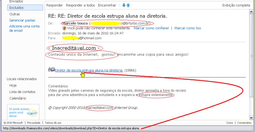 Virus-email Hotmail